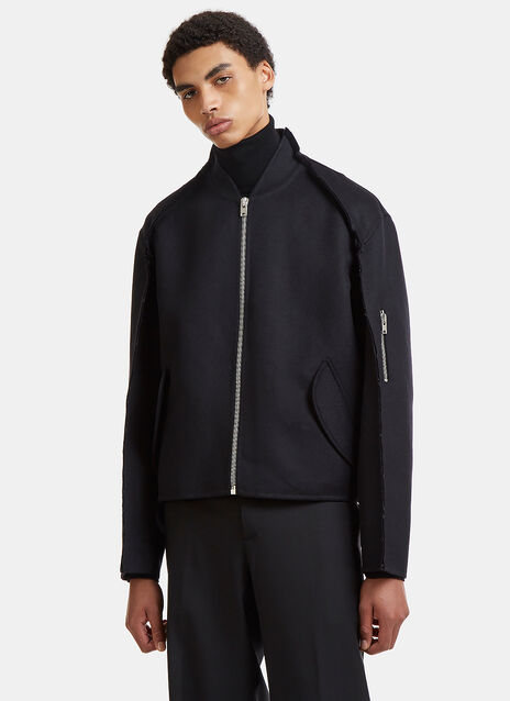 Yang Li Double-Faced Raw Seam MA-1 Bomber Jacket