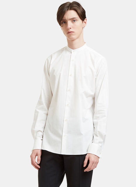 Band Collared Poplin Shirt