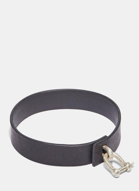 Parts Of Four Leather Charm Choker