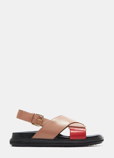 Fussbett Cross Over Leather Sandals