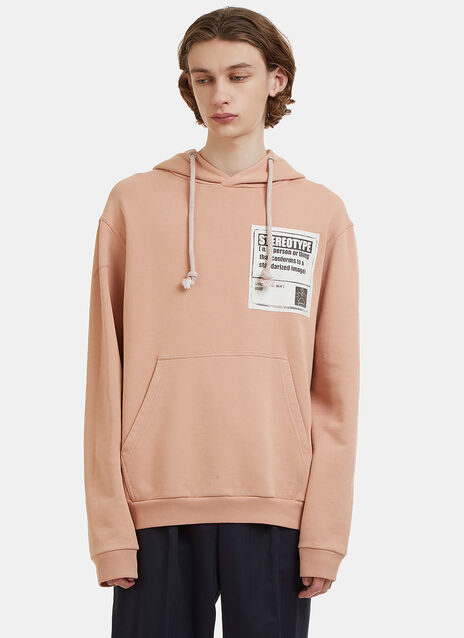 Stereotype Patch Hooded Sweater
