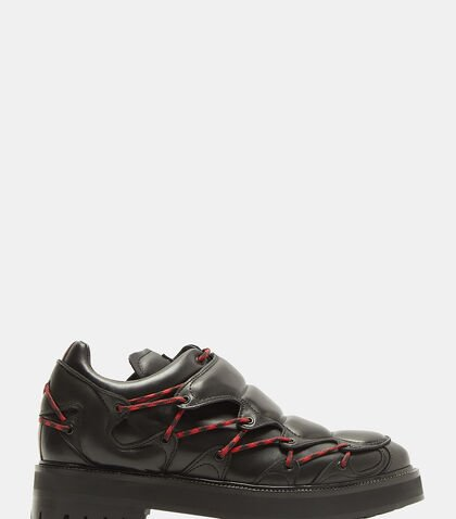 Morso Leather Sneakers in Black