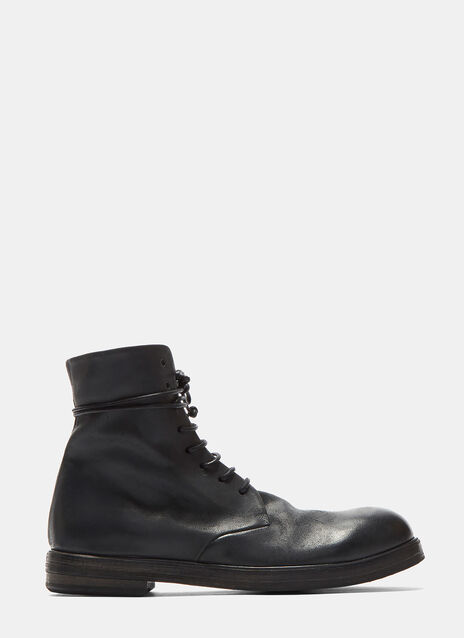 Zucca Zeppa Leather Combat Boots