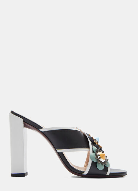 Sabot Jewelled Flower Mules