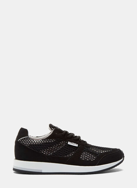 LUNGE TRAINER CLASSIC RUN IN BLACK NET AND BLACK DETAILS