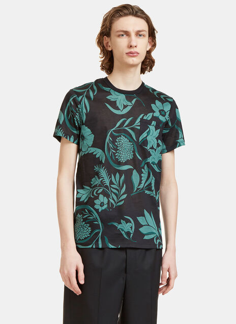 Flower Print Crew Neck T-Shirt