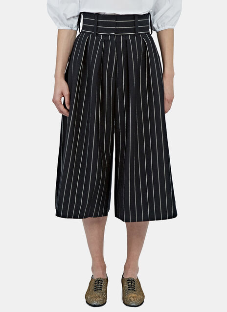 Pinstripe Front Pleat Culottes