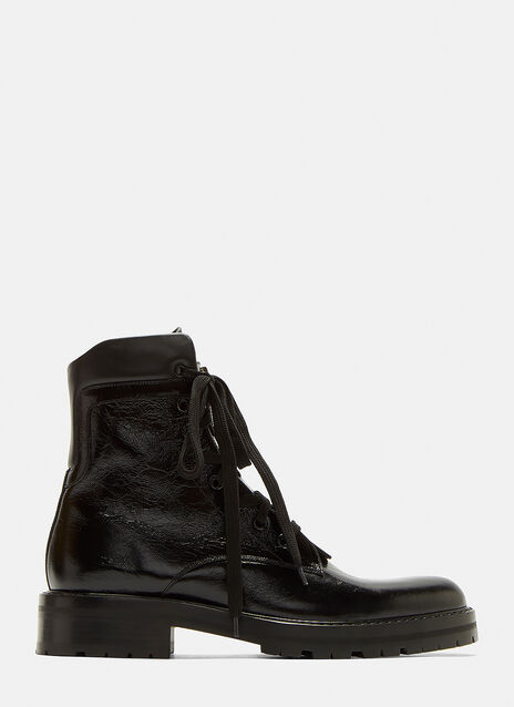 William 25 Front Zip Leather Boots