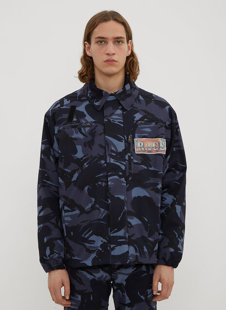 Martine Rose Camo Patch Jacket in Blue