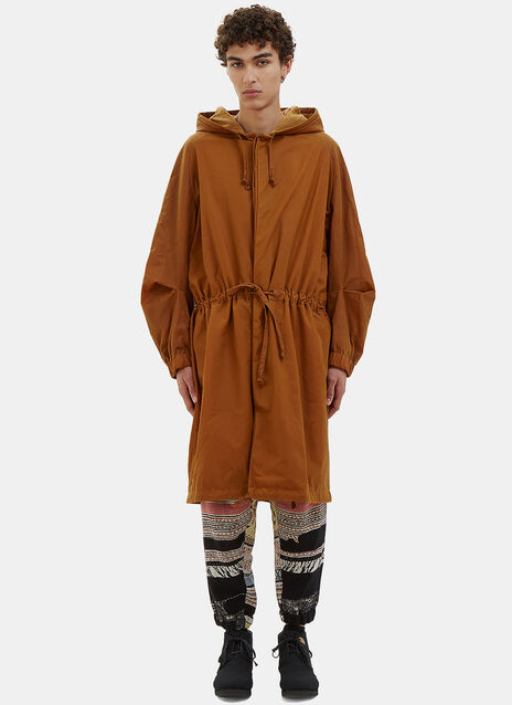 Anntian Oversized Waxed Parka Coat