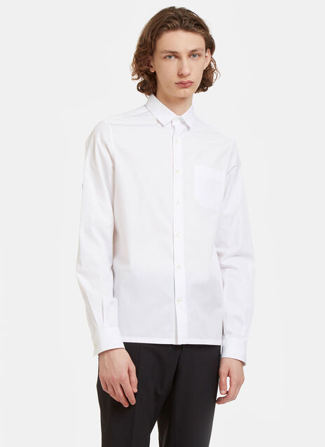 D-Ring Strapped Poplin Shirt