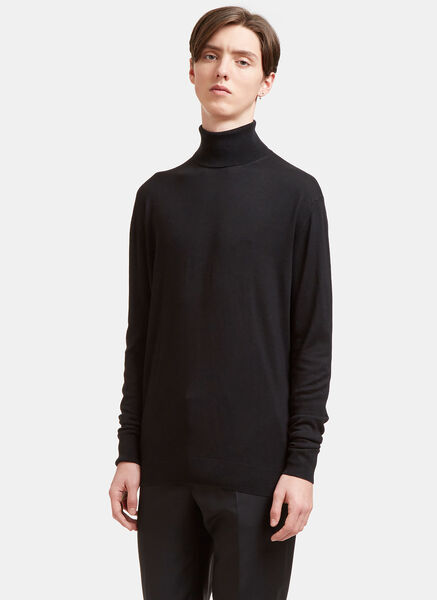 AIEZEN Cashmere and Silk Roll Neck