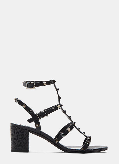 Rockstud Rolling Block Heeled Sandals