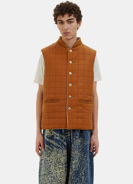 Oversized Reversible Quilted Gillet