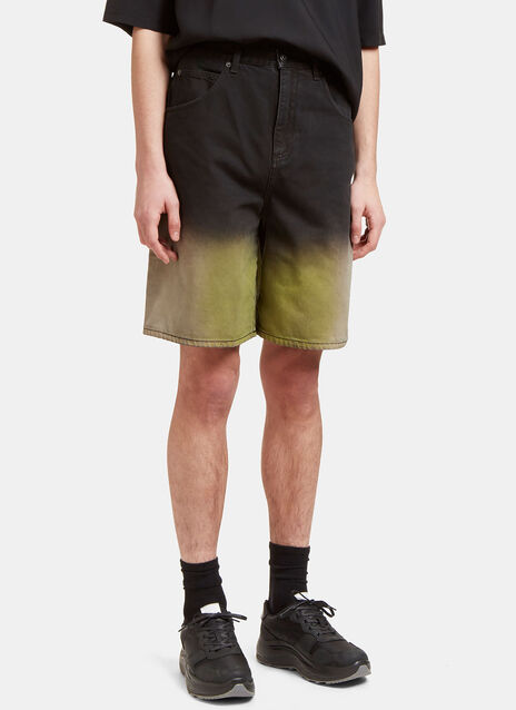 Acid Dipped Denim Shorts