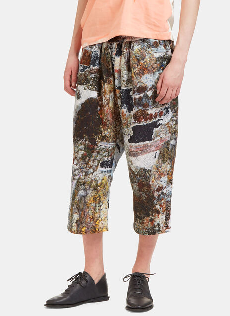 Garden Printed Cropped Pants