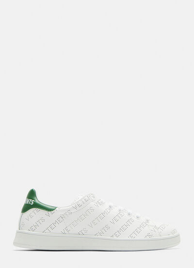 Vetements Perforated Leather Logo Sneakers