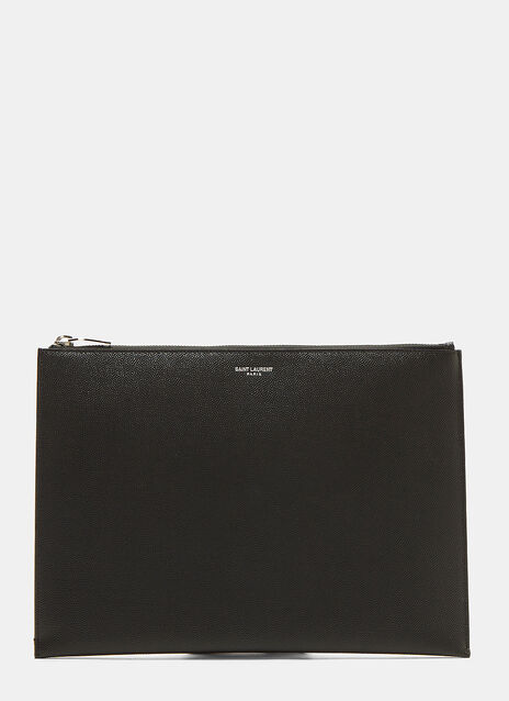 Saint Laurent Classic Grain de Poudre Tablet Case