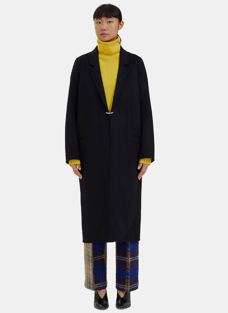 Foin Long Double-Faced Wool Coat