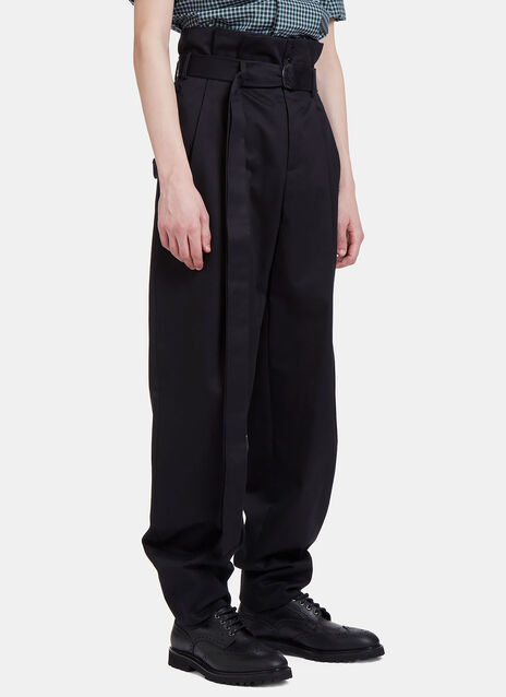High-Waisted Pleat Pants