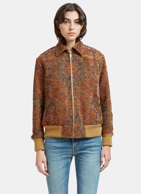 Tapestry Frayed Jacket