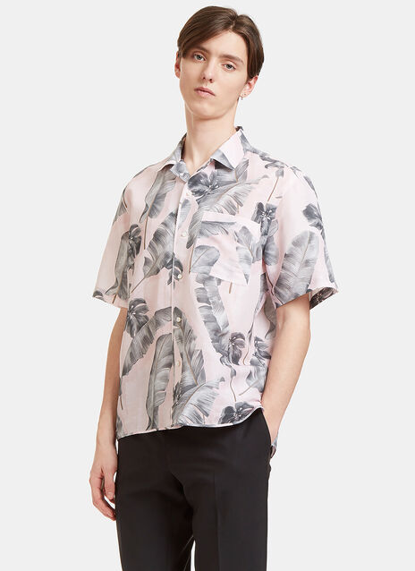 Tropic Print Short Sleeved Shirt