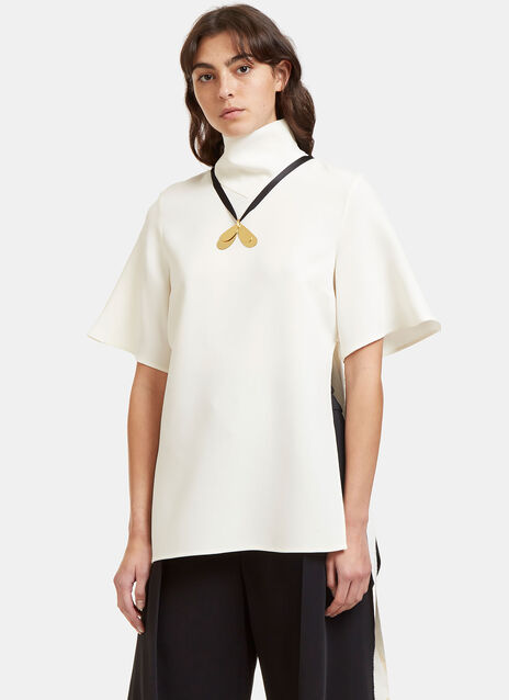Blasphemy Oversized Funnel Neck Top