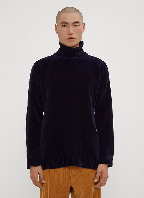 Our Legacy Turtle Neck Sweater in Navy