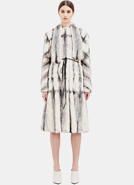 Lanvin Womens Mink Fur Coat