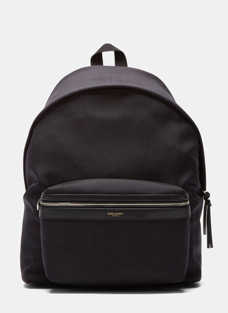 Classic Hunting Leather Trimmed Canvas Backpack