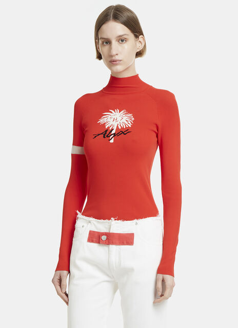 Alyx Palm Intarsia Roll Neck Sweater
