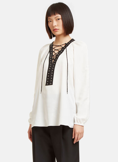 Yuba Stud Trimmed Blouse