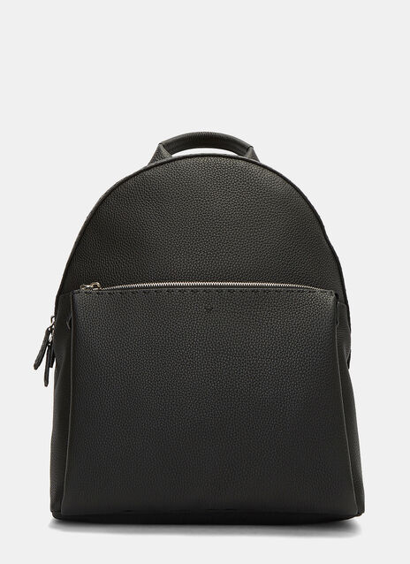 Zaino Pebble Grained Leather Backpack