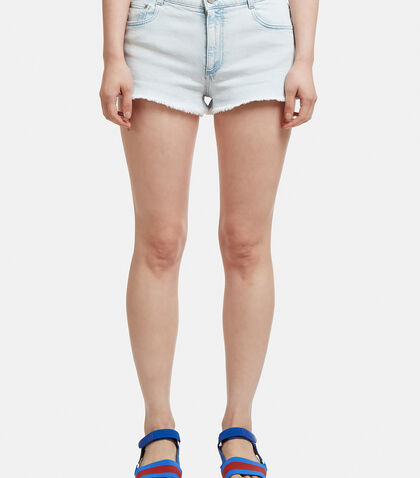 Bleached Cut-Off Shorts in Blue