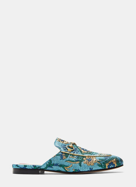 Princeton Lamé Brocade Horsebit Loafers