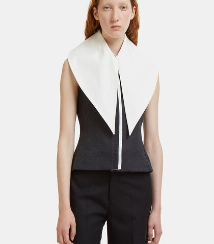 Le Haut Grand Col Sleeveless Blazer Jacket