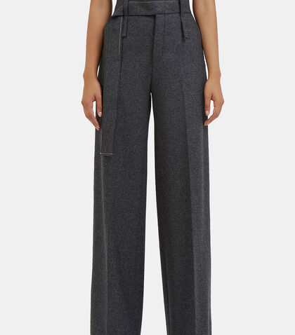 Huranal Wide Leg Wool Pants