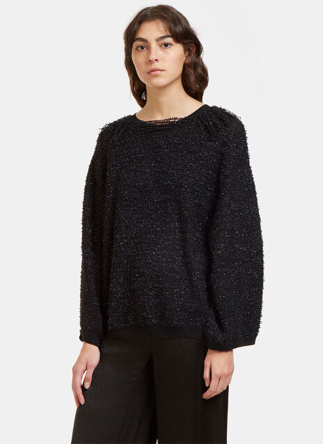 Oversized Shaggy Knot Sweater