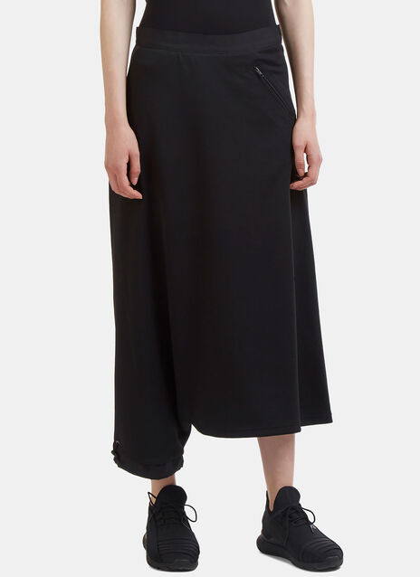 Mid-Length Jersey Pant Skirt