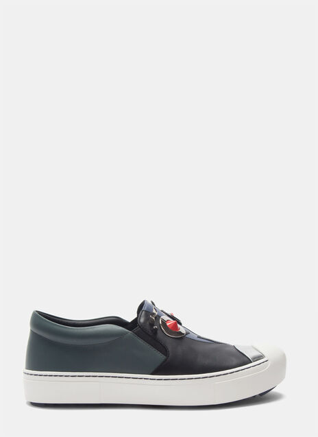 Slip-On Face Sneakers
