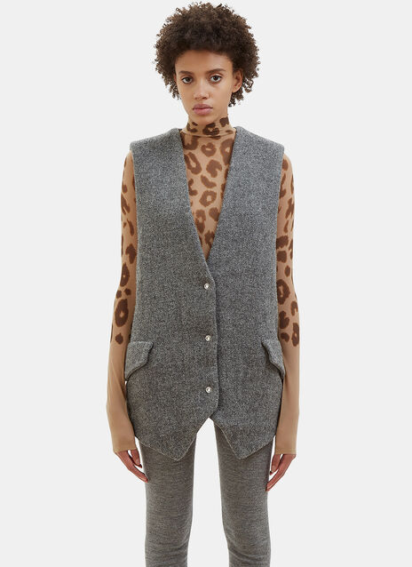 Avril Sleeveless Harris Tweed Jacket