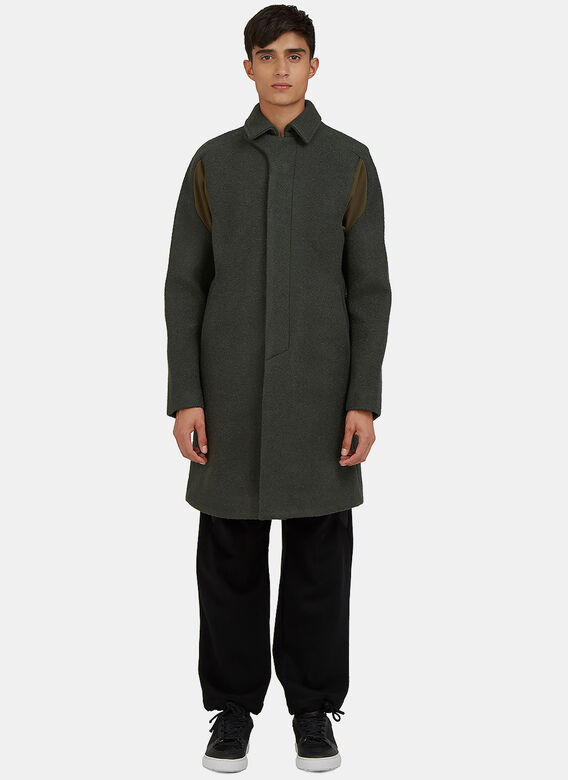 Abasi Rosborough Arc Boucléd Overcoat