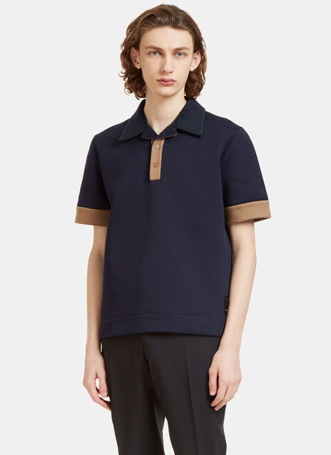 Terry Cloth Collared Technical Polo Shirt
