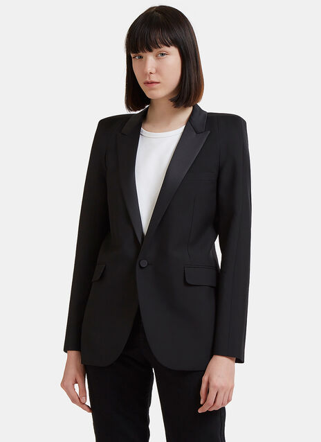 Saint Laurent Square Shoulders Tux Jacket