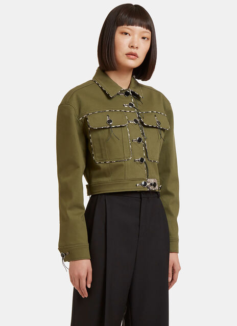 Atoka Snake Cropped Jacket