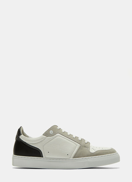 Contrast Panelled Low-Top Sneakers