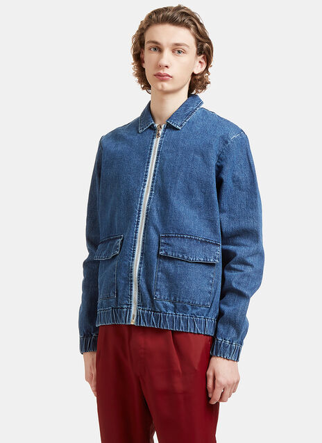 Zip-Up Denim Jacket