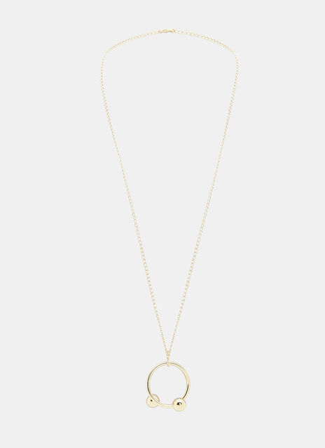 Double Ball Pendant Necklace