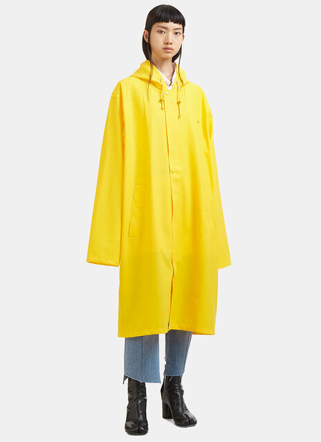 Oversized Logo Printed Rain Coat