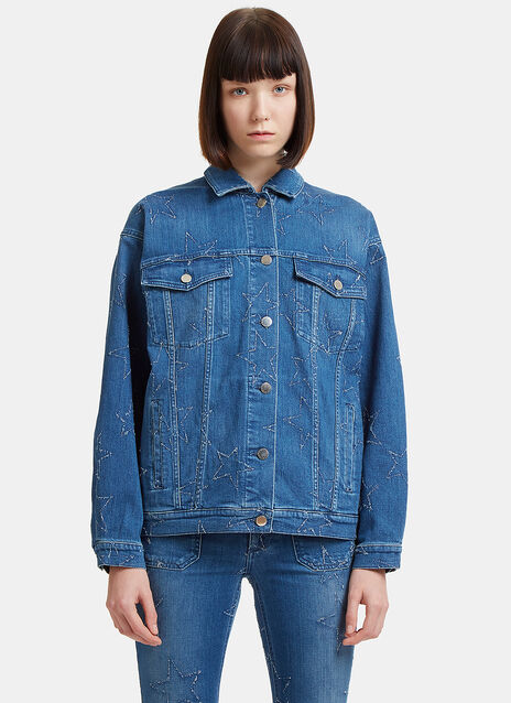 Star Embroidered Denim Jacket